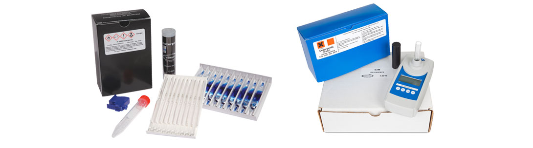 Detergents (anionic surfactants, MBAS) Test Kits
